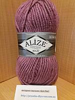 Зимняя пряжа (25% шерсть, 75% акрил; 100г/100м) Alize Superlana MAXI 28(сухая роза)