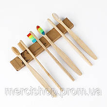 Экологическая бамбуковая угольная зубная щетка для гигиены полости рта (средней жёсткости)