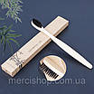 Экологическая бамбуковая угольная зубная щетка для гигиены полости рта (средней жёсткости), фото 4