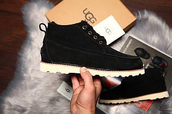"""Мужские зимние UGG David Beckham Boots """"Black"""" (люкс копия)"""