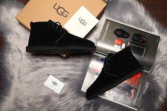 "Мужские зимние UGG David Beckham Boots All ""Black"" (люкс копия)"