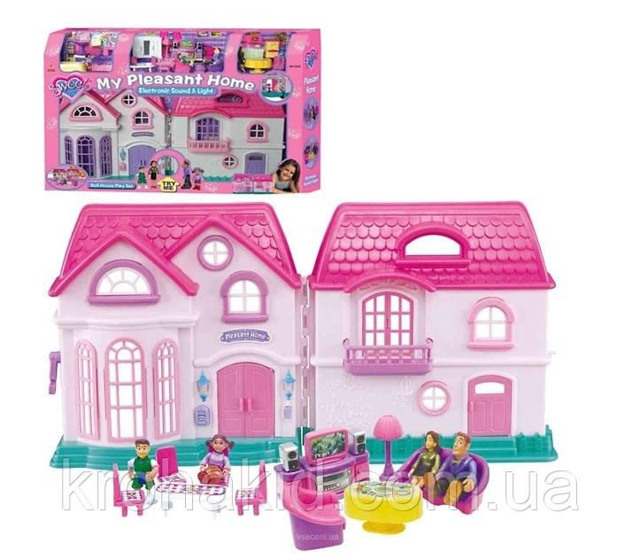 Игровой раскладной домик для кукол My Pleasent Home 16428/ Дом для кукол с фигурками и мебелью