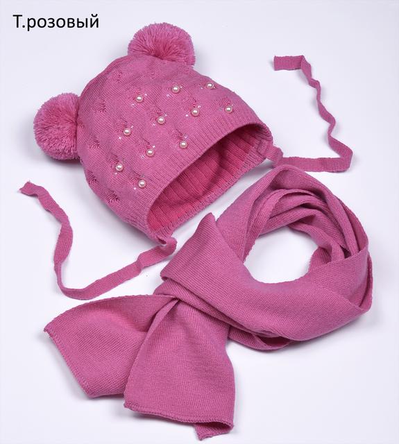 Вязаная детская шапочка на весну