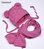 Вязаная детская шапочка на весну, фото 1