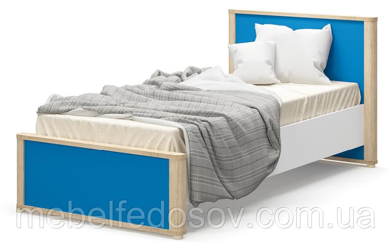 Кровать односпальная 900 Лео  (Мебель-Сервис)  1075х2104х924мм
