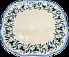 """Керамическое блюдо многогранное """"Сецессион"""" 29 Blueberry crown"""