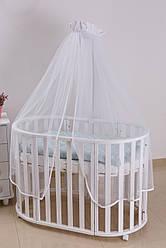 Балдахин для детской кроватиTwins Pompon универсальный, белый (8413)