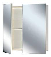 Зеркальный шкаф (2-створчатый) шириной 55 см