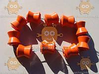Втулки реактивных тяг ВАЗ 2121, 2123 Нива, Тайга, Шевроле ПОЛИУРЕТАН! Оранжевые (10шт большие) также устанавливают на ВАЗ 2101-07 (пр-во Россия)