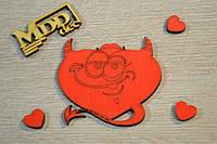 Валентинка сердце деревянное