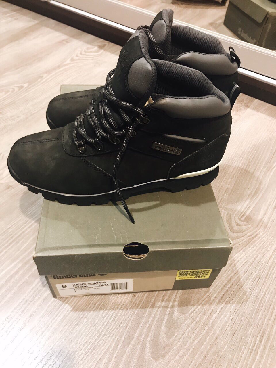 Мужские ботинки Timberland Splitrock 2 Hiker Nubuck Black (N74) 6359A 4cf74d2199db8