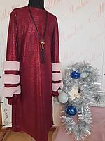 Детское платье на девочку подростка Юнна Красный Размеры 140-158  Супер наряд!