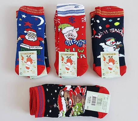 Новогодние носки для маленьких детей до 3 лет