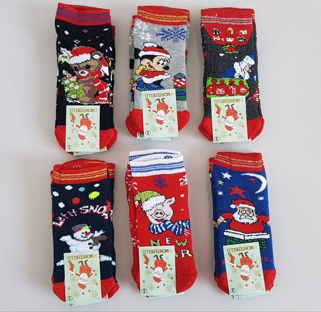 фотография новогодние носки для маленьких детей