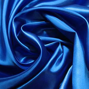 Ткань атлас синий электрик