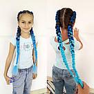 Яркие косы канекалона, коса сине голубая, фото 6