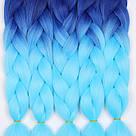 Яркие косы канекалона, коса сине голубая, фото 9