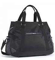 Дорожня сумка тканинна чорна Dolly 795 на три відділення з поліестеру 45х33х23см, фото 1
