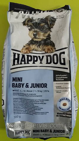 Корм для собак Happy Dog Mini Baby & Junior 300г, фото 2