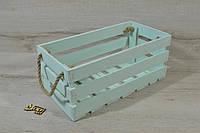 Ящик деревянный крашеный мятный