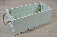 Ящик деревянный крашеный мятного цвета