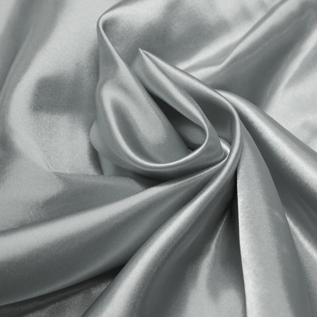 Ткань атлас светло-серый
