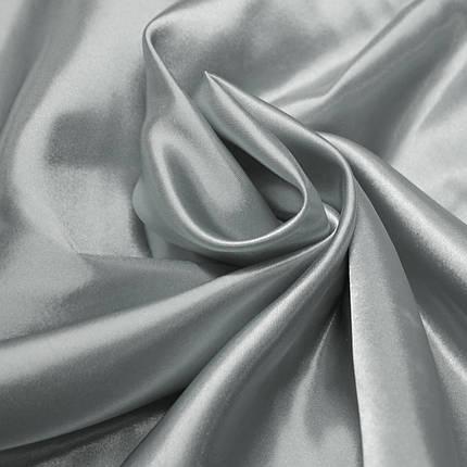 Ткань атлас светло-серый, фото 2