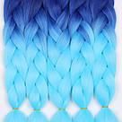 💙 Коса каникалона омбре синий, голубой для девочек 💙, фото 8