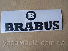 Наклейка vc бренд BRABUS 193х70мм на авто черная Брабус тюнинг Mercedes Smart Мерседес Смарт