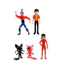 Игрушки фигурки Леди Баг и Супер-кот / Miraculous Ladybug and Cat , 5 штук