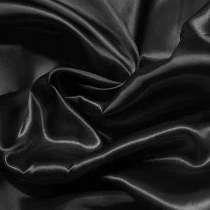 Ткань атлас черный, фото 2