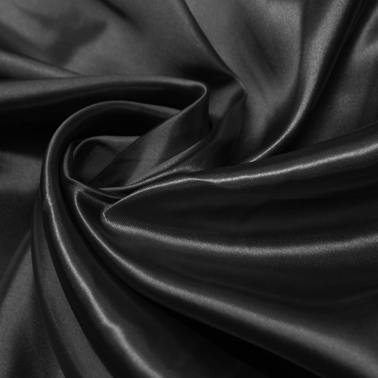 Ткань атлас черный