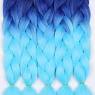 💙 Каникалон для брейд, кос и причёсок, омбре 💙, фото 8