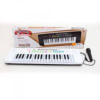 Синтезатор BX-1608B, 37клавиш, 45см, микрофон, муз, звуки животных, демо, на бат, кор-ке, 48-14-4см