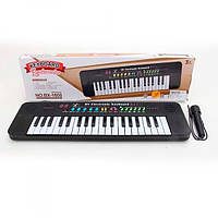 Синтезатор BX-1608A, 37клавиш, 45см, микрофон, муз, звуки животных, демо, на бат, кор-ке, 48-14-4см