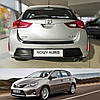 Toyota Auris II 2012-2015 пластиковая накладка заднего бампера