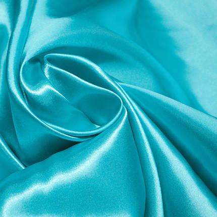 Ткань атлас голубая бирюза, фото 2