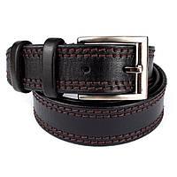 Ремень мужской кожаный KB-40-01 black (4 см)