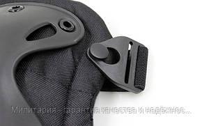 Тактическая защита наколенники + налокотники х черный, фото 2
