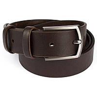 Ремень мужской кожаный KB-35 brown (3,5 см), фото 1