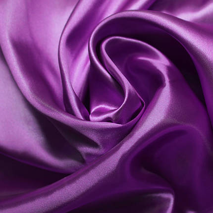 Ткань атлас фиолетовый, фото 2