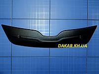 Зимняя заглушка решётки радиатора Skoda Rapid с 2012 матовая Fly.Утеплитель решётки Шкода Рапид, фото 1
