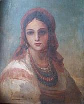 """Картина """"Портрет украинки"""", автор Винтурин М.И. 1881 год, фото 2"""