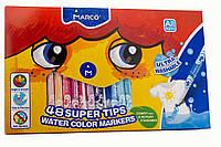 Фломастеры смываемые Marco Super Washable,48 цветов 1630-48, фото 1