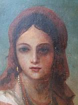"""Картина """"Портрет украинки"""", автор Винтурин М.И. 1881 год, фото 3"""