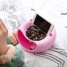 Миска для семечек с подставкой под телефон тарелка