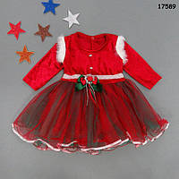 Нарядное новогоднее платье для девочки. 12, 18 мес; 2, 3 года