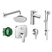 Набор смесителей для ванной скрытого монтажа Hansgrohe Talis E 71745111 хром