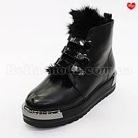 Женские ботинки лаковые ремешки кнопки, фото 1