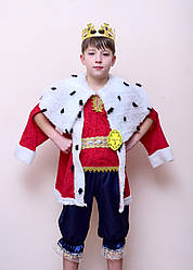 Карнавальный костюм КОРОЛЬ, ЦАРЬ для мальчика 7,8,9,10 лет, детский маскарадный костюм КОРОЛЯ, ЦАРЯ 327